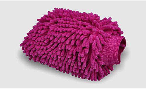 exeauto-2-pack-thickened-double-sided-chenille-microfiber-premium-scratch-free-car-wash-mitt-red