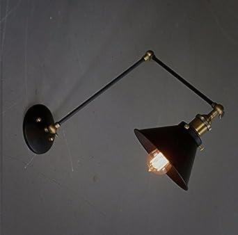 Mural Lampe Pour Applique Style Rétro Murale Éclairage 5R3jq4LA