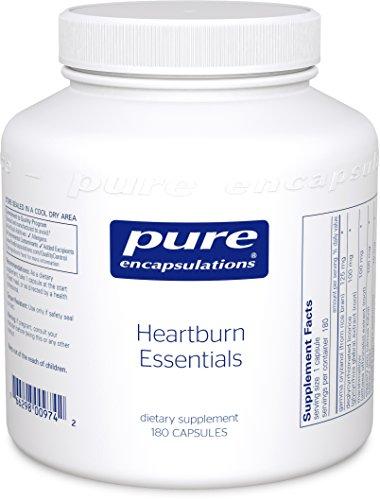 Pure Encapsulations - brûlures d'estomac Essentials - complément alimentaire contribue à la diminution des Occurrences de brûlures d'estomac occasionnelles et Indigestion * - 180 Capsules