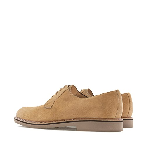 Andres Machado.6103.oxford Schoenen In Split Leather.made In Spain.mens Grote Maten: Us M13 To M16 Camel Split Leather
