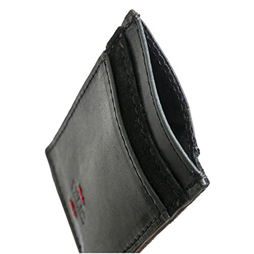 de Cuero 1021449 Holder Card Leather Genuine Hombre Bifold Billetera Black Velez Credit Mens n8qFSqw6