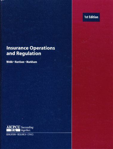 Insurance Operations and Regulation