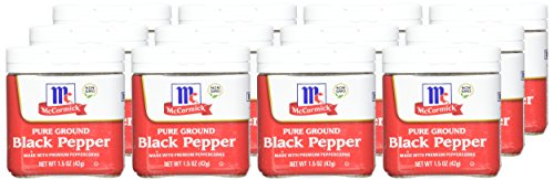 McCormick Ground Black Pepper, 1.5 Ounce (Pack of 12) by McCormick (Image #1)