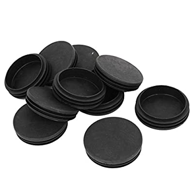 uxcell 12Pcs 70mm Dia Black Plastic Blanking End Cap Round Tube Inserts