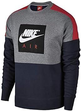 Nike Herren M Nsw Crew Air Flc Sweatshirt, Mehrfarbig