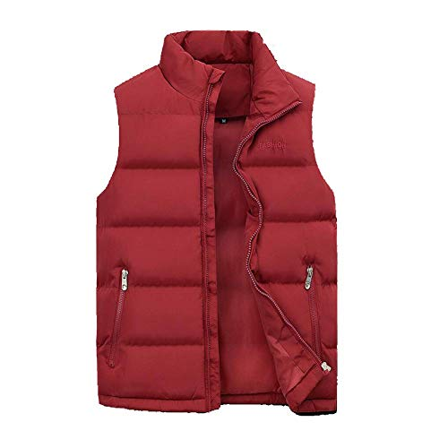 Tout Taille Pour Coupe vent Sans Hommes Duvet Automne Gilet En Manteaux Rouge coloré aller Rouge Mode Chaude Veste Manches Hommes Élégant Hiver 3xl qRWd7an