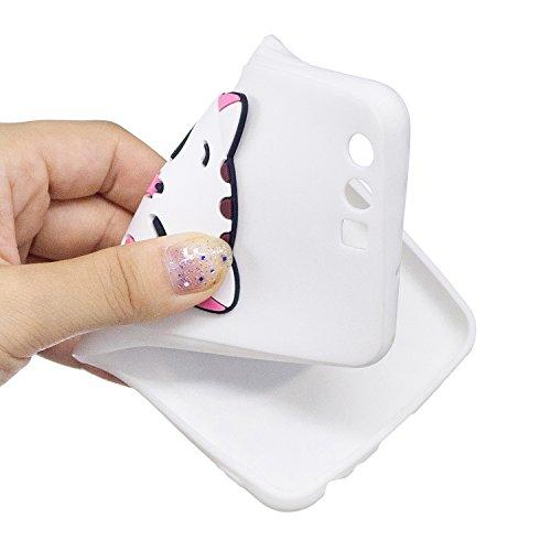 Funda Huawei P10,SainCat Moda Alta Calidad Scrub Ultra Slim Gel suave TPU Silicona Suave Funda Carcasa Caso Parachoques Carcasas 3D Tridimensional Kawaii Case con Lindo Cartoon Alivio Muñecas TPU Sili Pareja de gatos