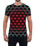 Alistyle Fanient Mens T Shirt 3D Honeycomb Briquette Print Shirt Funny Graphic Short Sleeve Tees M