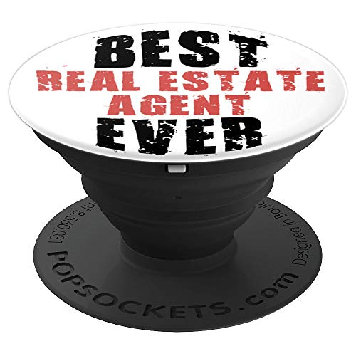 Best Real Estate Agent Ever in Retro Grunge Text PACV030e - PopSockets Grip and Stand for Phones and Tablets