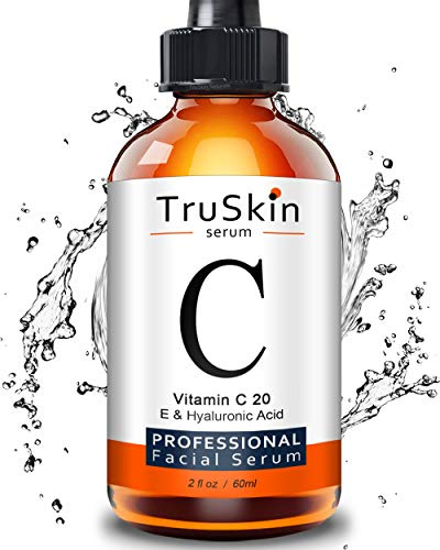 TruSkin Vitamin C Serum for Face [BIG 2-OZ Bottle] Topical Facial Serum with Hyaluronic Acid & Vitamin E, 2 fl oz. (Best Skin Ever Oil Cleanser)