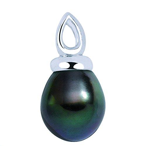 HENIRI - Pendentif Perle de Tahiti - Or 18 carat - Diamètre de la perle: 10 à 11 mm - www.diamants-perles.com