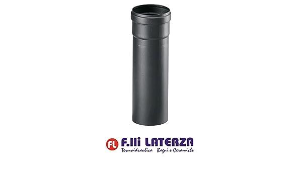 Tubo Negro Mate para estufa de pellets de acero Grosor 1,2 mm. 500 mm. Diámetro 80 tubos: Amazon.es: Bricolaje y herramientas