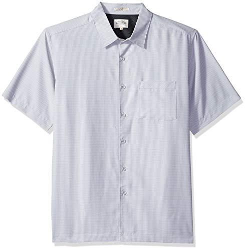 (Quiksilver Waterman Men's Centinela 4 Button Down Shirt, Drizzle, M)