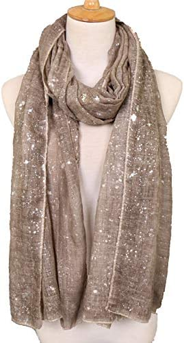 KAVINGKALY Lightweight Evening Wrap or Scarf Fashion Lightweight Wedding Feather Shawl and Evening Star Sparkle Scarves for Women