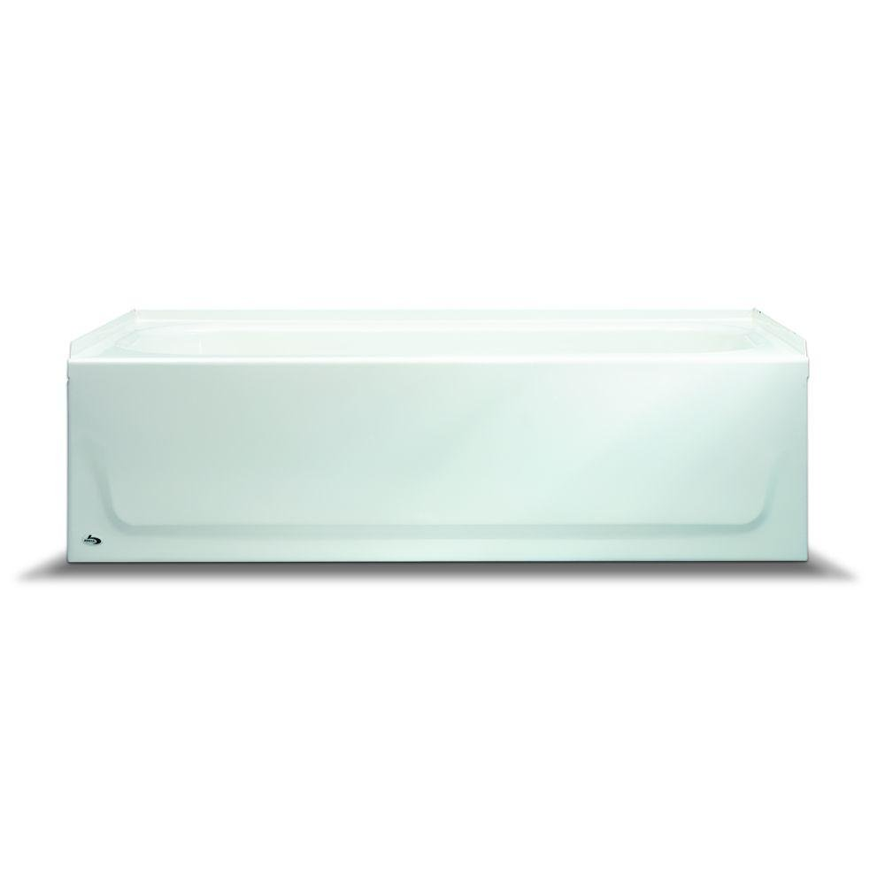 BOOTZ INDUSTRIES GIDDS-110004 Steel Bathtub With Right-Hand Drain, White, 30 x 60 x 14 1/4''