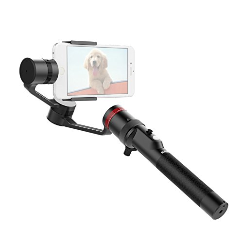 """MOZA Mini-C 3-Axis Handheld Wearable Gimbal for Smartphones within 6"""" - 8hrs Run Time, Yaw-Follow/Tilt-Yaw Follow/All-lock Follow Modes, Vertical Shooting Mode, Track Shooting Mode and Selfie Mode"""