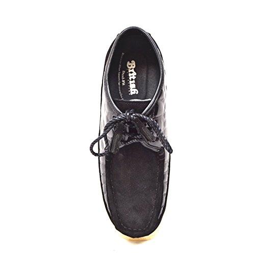 Colección Británica - Knicks Croc And Suede Hombres Slip On Zapatos Black Croc