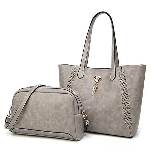 Tote Bag Lady Handbag Purse Grey 2pcs Fashion Bags New Style WENIG handle Top Shoulder 8UqTWwa
