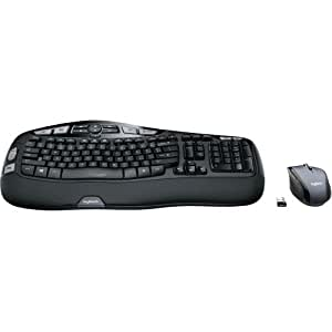 logitech mk570 comfort wave wireless keyboard and optical mouse computers accessories. Black Bedroom Furniture Sets. Home Design Ideas