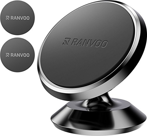 MAGNETIC Car Phone Mount, Ranvoo UNIVERSAL Magnet Dashboard Adhesive Car Mount for iPhone X iPhone 8 Plus iPhone 7 Plus S8 S9 LG (Adhesive Dashboard)