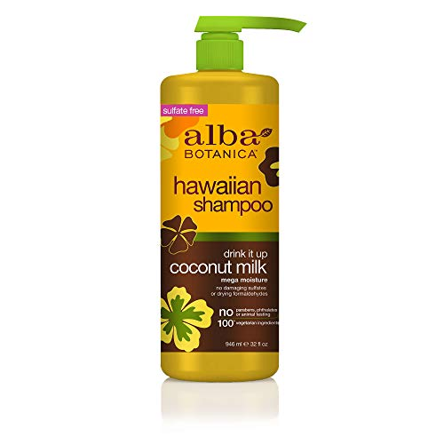 Alba Botanical Shampoo - Alba Botanica Drink It Up Coconut Milk Hawaiian Shampoo, 32 oz.