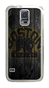 Samsung Galaxy S5 Case, Wood Bruins Clear Plastic Hard Snap on Protective Case Back Cover for Samsung Galaxy S5 I9600