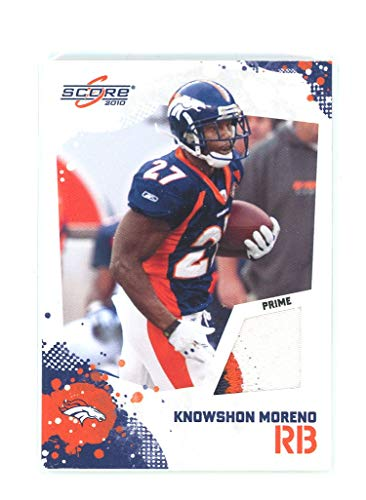 2010 Score Retail Factory Set Prime Jerseys #7 Knowshon Moreno Broncos