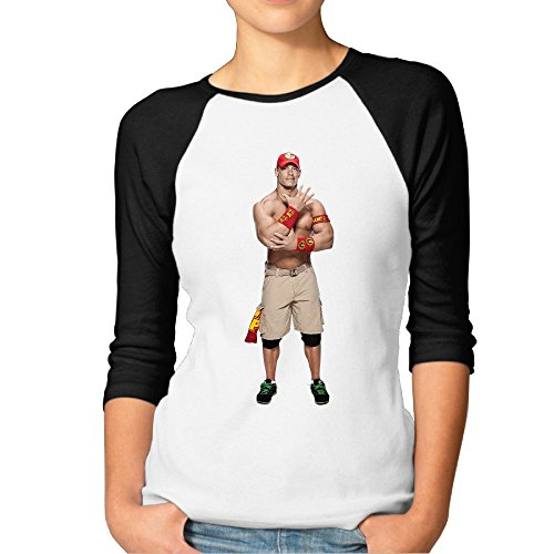 Female Wwe John Cena Baseball Athletic 3/4