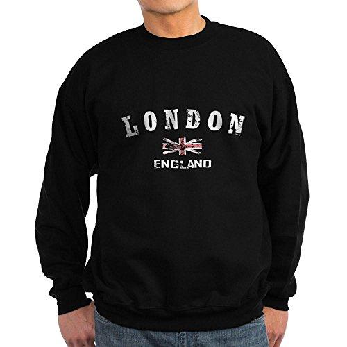 CafePress - London England Sweatshirt (Dark) - Classic Crew Neck Sweatshirt Black (London Christmas Jumper Day)