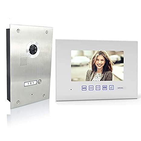 Silber 3x7 Monitor Spiegel Au/ßenstation Silber Farbe 2 Draht 3 Familienhaus T/ürsprechanlage Gegensprechanlage Fischaugenkamera 170/° Gr/ö/ße