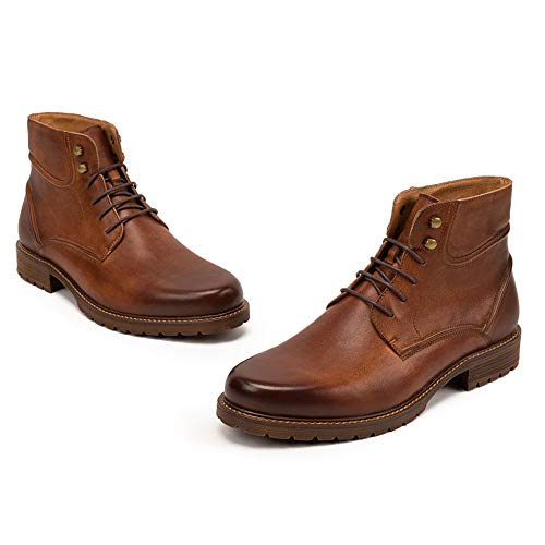 Boots in Doc Stivali Mens in Inverno Autunno Alti Top Classici Adulti Bovina Stivali Pelle Pelle per Stivali E di Brown1 Pelle Martin Sicurezza in EAqqT