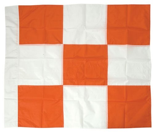 Safety Flag APF 36 by 36 Airport Flag, Orange and White by Safety Flag