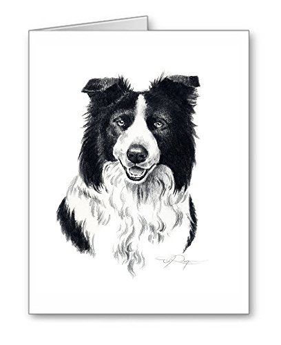 Border Collie - Set of 10 Dog Note Cards With Envelopes