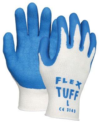 Memphis 9680L Large Flex-Tuff 10 Gauge Coated Work Gloves, Pack of 3 (Flex Tuff Gloves)