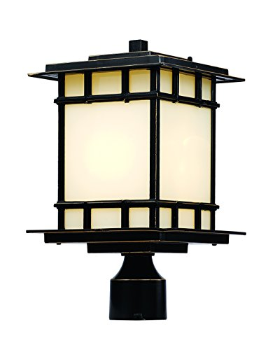 Trans Globe Lighting 40393 ROB Outdoor Antonio 14.5'' Postmount Lantern, Rubbed Oil Bronze by Trans Globe Lighting