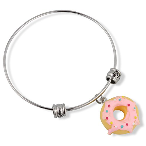 Sprinkles Icings - Donut ( Yellow with Pink Icing and Sprinkles) Fancy Bangle