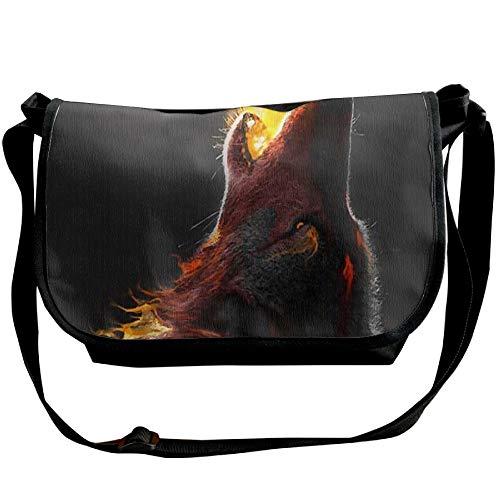 Designer Body Wolf Handbags Shoulder Spray Bag Travel Fashion Unisex Black Fire Cross Bag 1xqBvIq