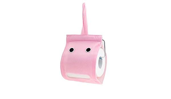 Amazon.com: eDealMax montado en la pared 2 del botón de la decoración Felpa del Rollo de Papel higiénico rosa Tejido Titular: Home & Kitchen