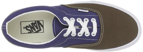 Hombre vintage Azul Era De Skateboarding Marrón Zapatillas Para Vans Brown xvXq87x