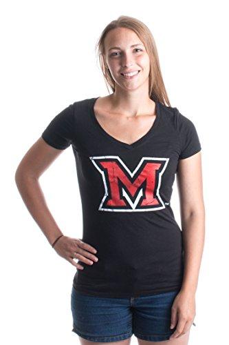 Miami University | Miami of Ohio RedHawks Vintage Style Ladies' V-neck T-shirt