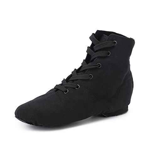 zapatos hijos ballet Jazz GTVERNH moderno de Alto Dance zapatos Botas Black zapatos fondo de los Zapatos de de adultos lona suave para qrqHwtYa