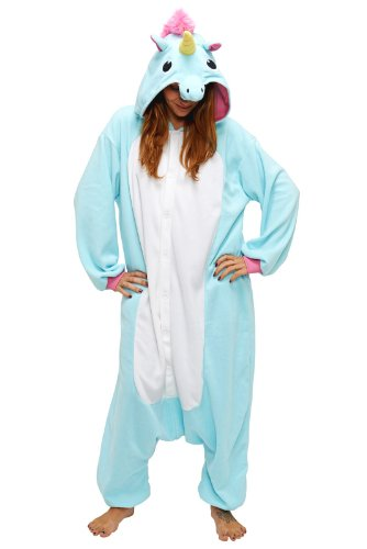 Blue Unicorn Kigurumi - Adult Costume