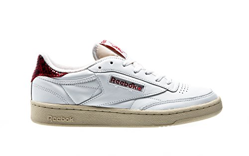 Reebok Club C 85 VS, white-canyon red-paper white White