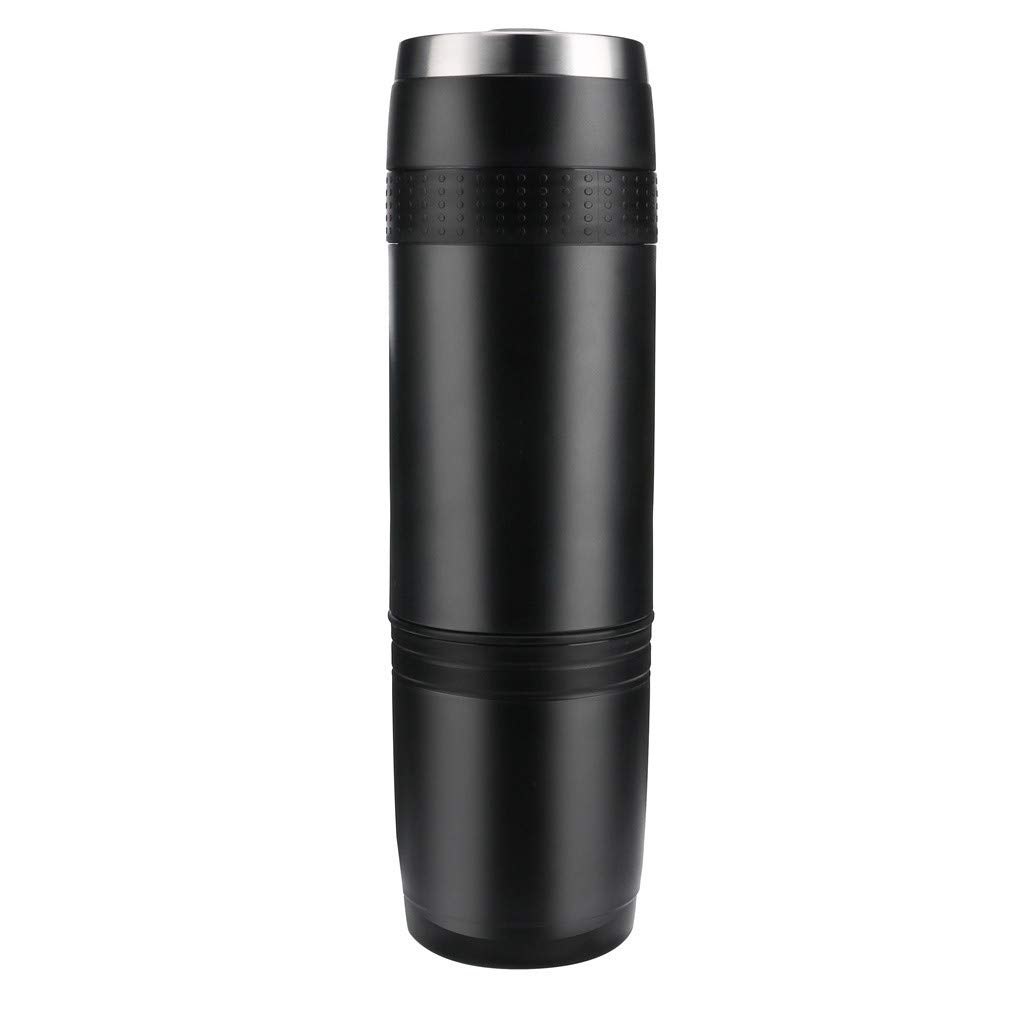 Portable Coffee Maker, Portable Espresso Machine, Compatible Capsule And Ground Coffee for Outdoor Camping or Office Upgrade Version, Great for Commuter