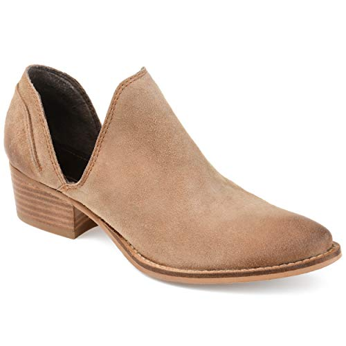 Journee Signature Womens Jonesy Bootie Cognac, 7.5 Regular -