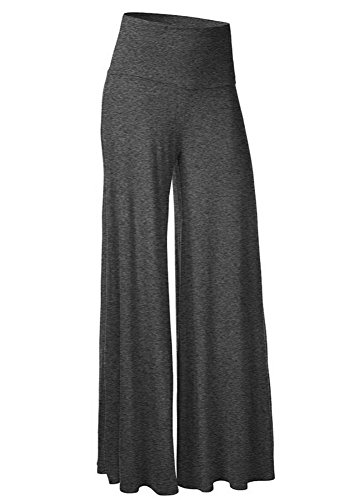 Women's Comfy High Waist Harem Pants Casual Dress Flowy Full Length Long Wide Leg Trousers