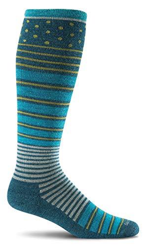 Sockwell Women's Twister Graduated Compression Socks, Teal, Medium/Large