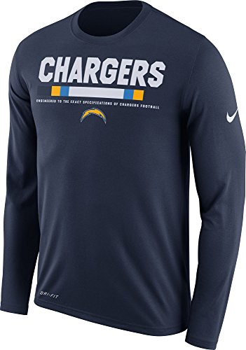 Nike Heren Los Angeles Opladers Legend Staff Navy Shirt Met Lange Mouwen (m)