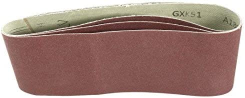 - Aluminum oxide sanding belt, polishing joint, 180 mm, 4 inches x 24 inches, 3 pieces