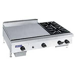 "Rankin-Delux RDGM-36-A-20B-C Commercial Griddle - Hot Plate Combination 36"" Griddle"